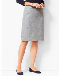 Talbots Black Twill A-line Skirt