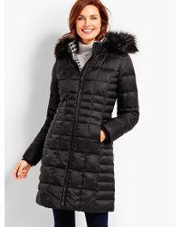 Talbots Black Hooded Down Puffer Coat