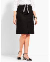 Talbots Black Ribbon-tie Skirt