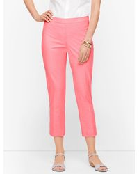 Talbots Pink Chatham Crop Pants
