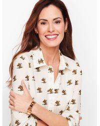 Talbots Multicolor Classic Cotton Shirt