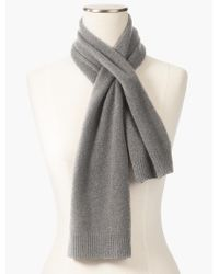 Talbots | Gray Cashmere Pull-through Scarf | Lyst