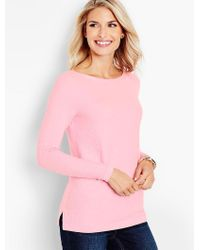 Talbots Pink Basket-weave Sweater