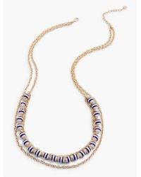 Talbots | Metallic Mixed-bead & Link Necklace | Lyst