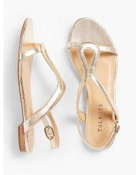 Talbots | Keri Keyhole Sandals - Metallic Leather | Lyst