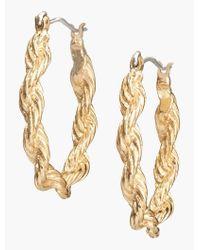 Talbots - Metallic Twisted-rope Hoops - Lyst