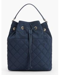 Talbots - Blue Quilted Backpack - Lyst