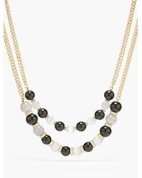 Talbots | Black Placed Bead Necklace | Lyst