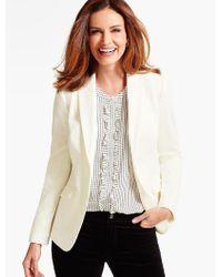 Talbots White Italian Flannel Blazer
