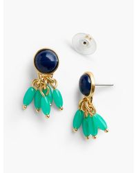 Talbots | Green Cabochon & Teardrop Earrings | Lyst
