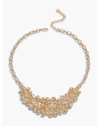 Talbots - Metallic Bead Cluster Necklace - Lyst