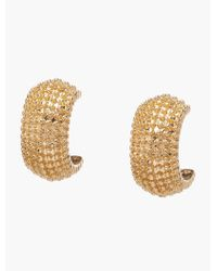 Talbots - Metallic Shot Bead Textured Earrings - Lyst