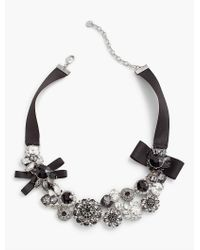 Talbots - Black Ribbon-cluster Necklace - Lyst
