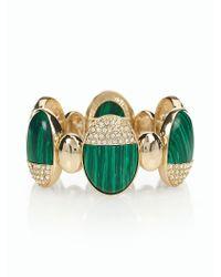 Talbots - Green Paved Capped Slip-on Bracelet - Lyst
