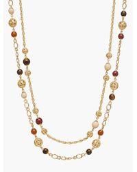 Talbots | Metallic Filigree Bead Necklace | Lyst