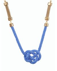 Talbots - Blue Seedbead Nautical-knot Necklace - Lyst
