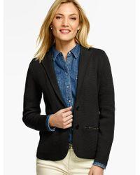 Talbots Black Sweater Blazer