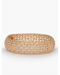 Talbots - Metallic Americana Basketweave Bangle - Lyst