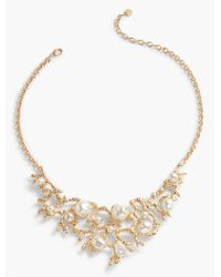 Talbots - Metallic Coral & Pearl Necklace - Lyst