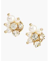 Talbots   Metallic Pearl Cluster Earrings   Lyst
