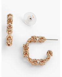 Talbots - Metallic Knotted Hoop Earrings - Lyst