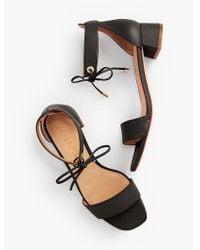 Talbots Black Naomi Leather Sandals