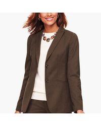 Talbots Brown Italian Luxe Flannel Blazer