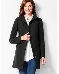 Talbots Black Italian Wool Coat
