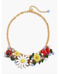 Talbots Red Garden Statement Necklace