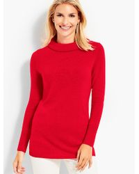 Talbots Red Cashmere Sabrina Pullover