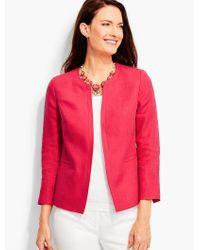 Talbots Pink Fresh Linen No-close Jacket