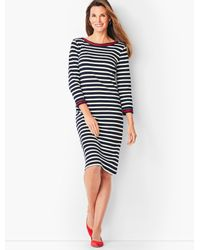 Talbots Multicolor Stripe Cotton Shift Dress