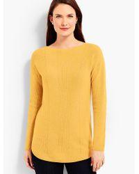 Talbots - Yellow Bateau Sweater - Lyst