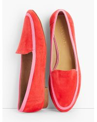 Talbots Red Ryan Kid Suede Loafers