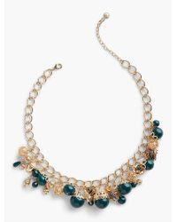 Talbots - Metallic Filigree Charm Necklace - Lyst