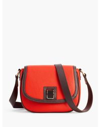 Talbots Red Pebbled-leather Crossbody Bag