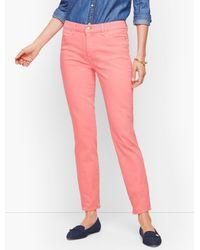 Talbots Pink Slim Ankle Jeans