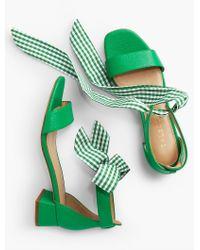 Talbots Green Naomi Scarf-tie Sandals