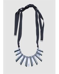 Tara Jarmon | Green Long Crystal Statement Necklace | Lyst