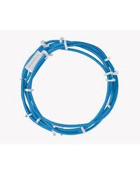 Tateossian - Blue Capri Silver Friendship Bracelet - Lyst