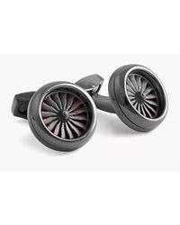 Tateossian | Metallic Rotating Engine Silver Cufflinks for Men | Lyst