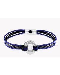 Tateossian | Blue Silver Nut & Bolt Friendship Bracelet | Lyst
