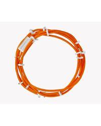Tateossian   Orange Capri Silver Friendship Bracelet   Lyst