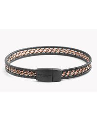 Tateossian - Metallic Capri Silver Bracelet With Ruthenium & Rose Gold Plated Wires - Lyst