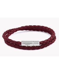 Tateossian - Red Double Wrap Slim Pop Taito Bracelet - Lyst