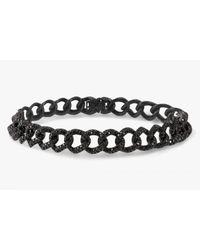 Tateossian | Gold Harry Bracelet In Black Diamonds And 18k Black Gold | Lyst