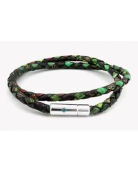 Tateossian | Pop Print Scoubidou Silver Bracelet In Green for Men | Lyst