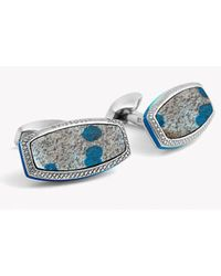 Tateossian - Blue Stones Of The World - Limited Edition - Silver K-2 Granite Azurite - Lyst