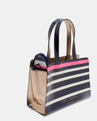 Ted Baker - Blue Striped Icon Bag And Flip Flop Set - Lyst