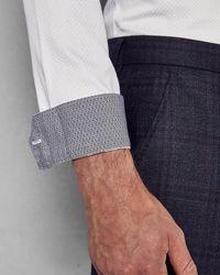 Ted Baker - White Geo Dot Print Cotton Shirt for Men - Lyst